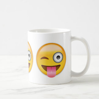 Face With Stuck Out Tongue And Winking Eye Emoji Coffee Mug