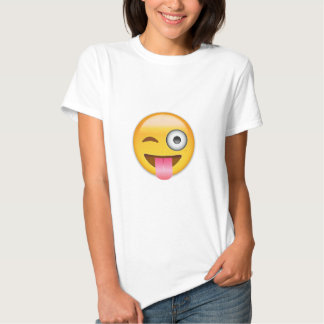 Face With Stuck Out Tongue And Winking Eye Emoji Tshirt
