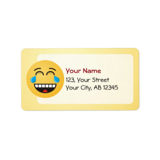 Face With Tears of Joy Address Label