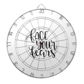Face your fears dartboard