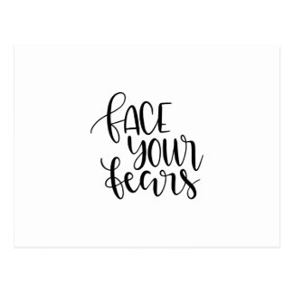 Face your fears postcard
