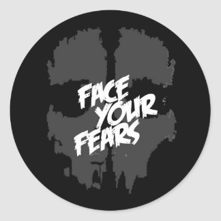 face your fears round sticker