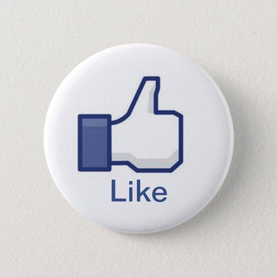 Facebook 6 Cm Round Badge
