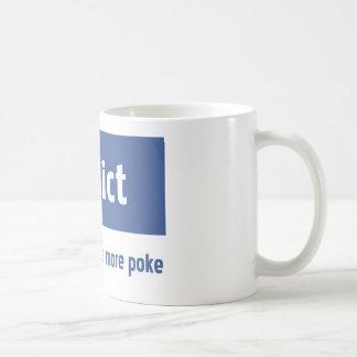 Facebook addict classic white coffee mug