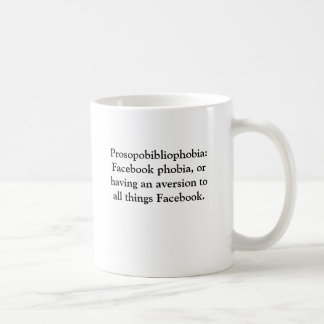 Facebook aversion coffee mug