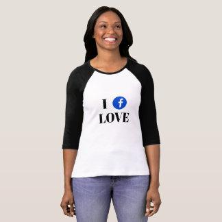 Facebook Fan 3/4 Sleeve Raglan T-Shirt