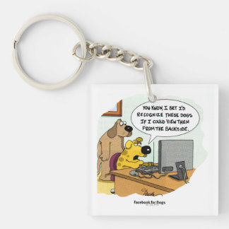 Facebook for Dogs Key Ring