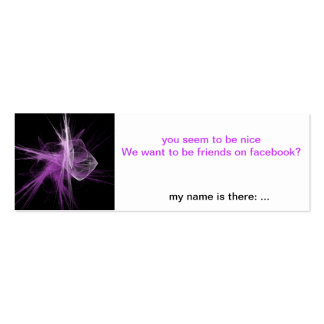 Facebook-Friends Flirt-Card Pack Of Skinny Business Cards