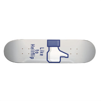Facebook hand like to hellflip funny skateboard