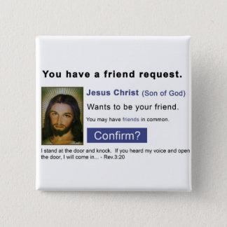 Facebook jesus 15 cm square badge