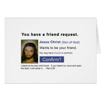 Facebook jesus card