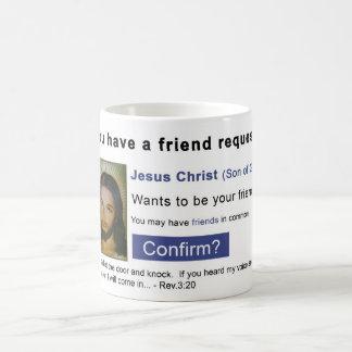 Facebook jesus coffee mug