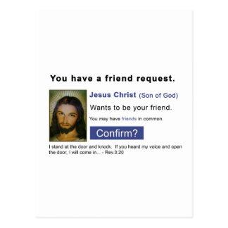 Facebook jesus postcard