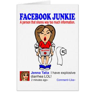 FACEBOOK JUNKIE CARD