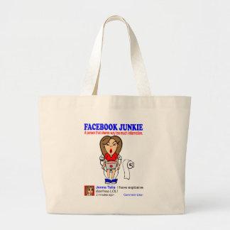 FACEBOOK JUNKIE JUMBO TOTE BAG