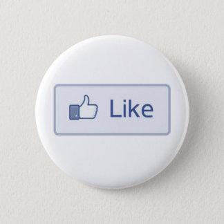 Facebook Like 6 Cm Round Badge