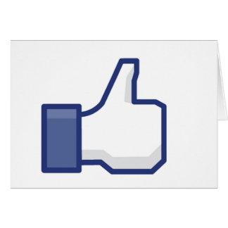 Facebook Like Button Card