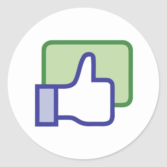 Facebook Like Button Classic Round Sticker