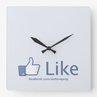Facebook Like Button - Promotional Wall Clock