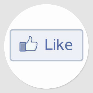 Facebook Like Classic Round Sticker