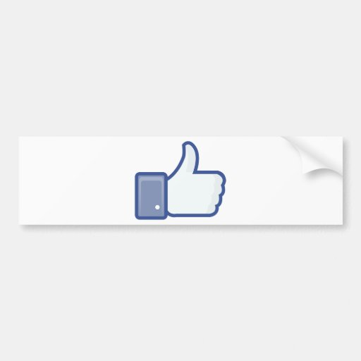 facebook LIKE me thumb up ! Bumper Sticker