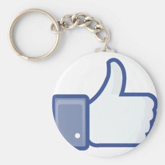 facebook LIKE me thumb up ! Keychain