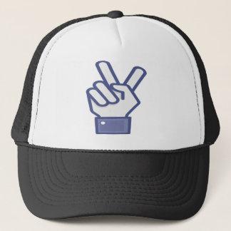 Facebook like peace sign trucker hat