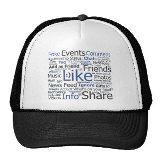 Facebook - like, poke, tagged, friends hats