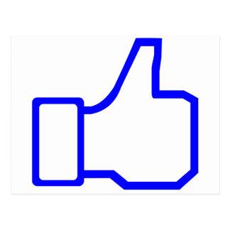 Facebook Like Postcard