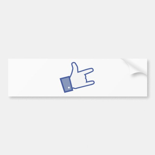 Facebook like You Rock thumb Rock and Roll icon Bumper Sticker