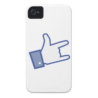 Facebook like You Rock thumb Rock and Roll icon iPhone 4 Case