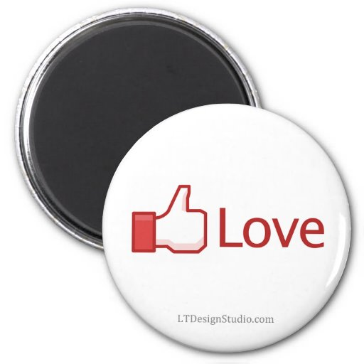 Facebook Love Button - Magnet
