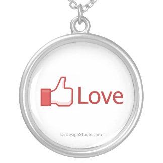 Facebook Love Button - Necklace