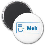 Facebook Meh Refrigerator Magnet