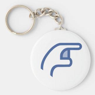 facebook POKE me Key Ring