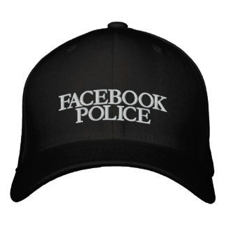 FACEBOOK, POLICE EMBROIDERED HAT