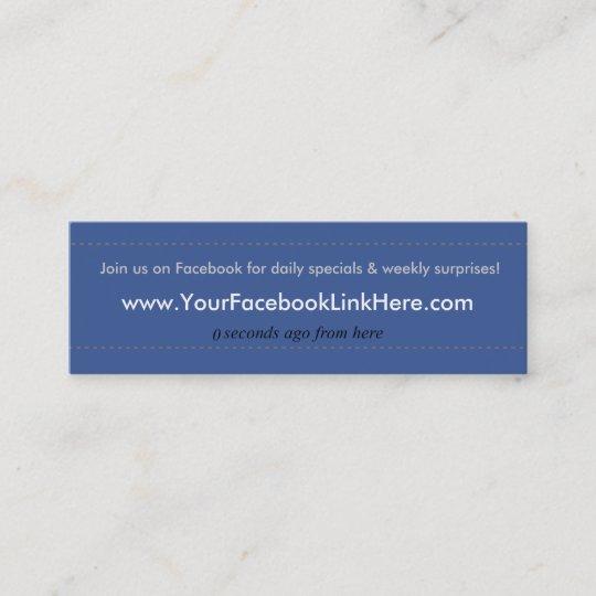 Facebook instagram social media post business card zazzle facebook profile business card specials blu colourmoves