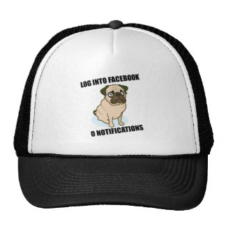 Facebook pug has 0 notifications hat