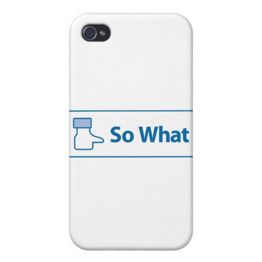 Facebook So What iPhone 4/4S Covers