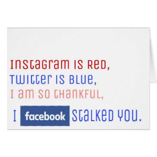 Facebook Stalker Card