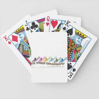 Facebook trombone group design bicycle playing cards