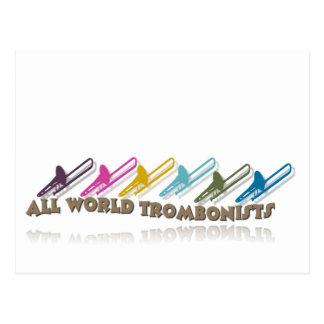 Facebook trombone group design postcard