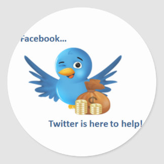 Facebook...Twitter Here to Help Stickers