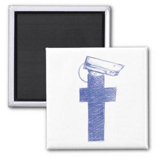Facebook Watchman Square Magnet
