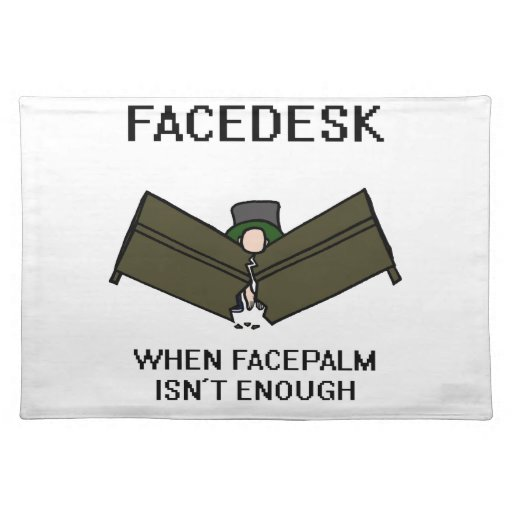 Facedesk Placemat Zazzle