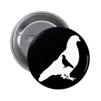 Faceless Pigeons 6 Cm Round Badge