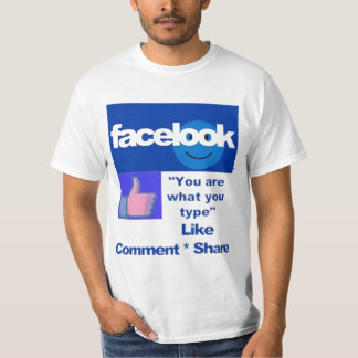 "FACELOOK ""You are what you type"" - (Humor) T-Shirt"