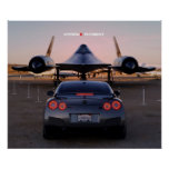 """Faceoff"" Nissan GT-R Taking on a SR-71 Posters"