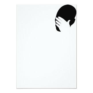 Facepalm meme 13 cm x 18 cm invitation card