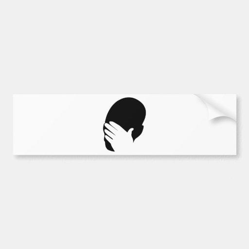 Facepalm meme bumper sticker